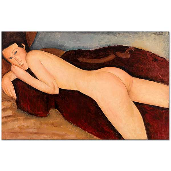 Amedeo Modigliani Reclining Nude From The Back Art Print
