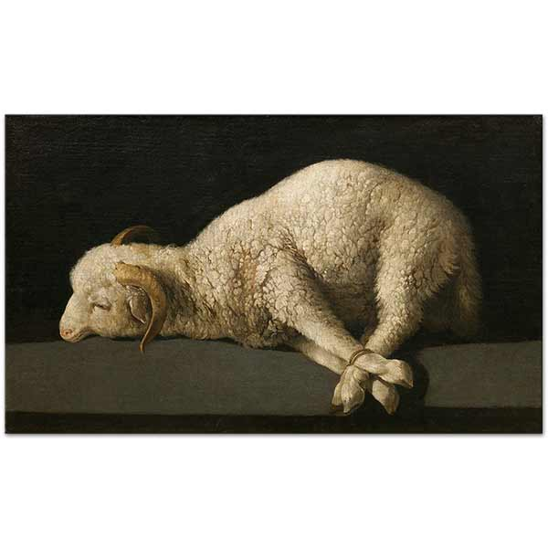 Francisco De Zurbaran Agnus Dei The Lamb of God