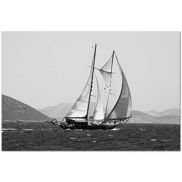 Sabahattin Kayis Sailboat Art Print