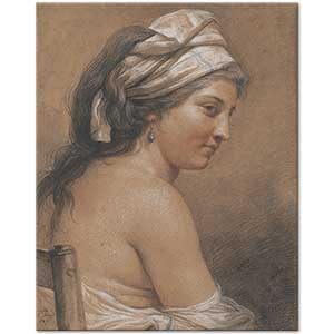 Adelaide Labille-Guiard Study of a Seated Woman Art Print