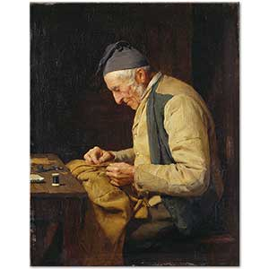 Albert Anker The Village Tailor Art Print