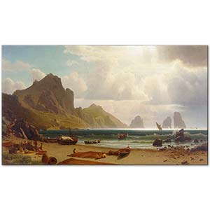 Albert Bierstadt The Marina Piccola Capri Art Print