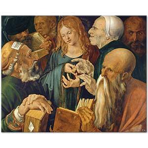 Albrecht Dürer Christ Among the Doctors Art Print