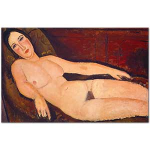 Amedeo Modigliani Nude on a Divan Art Print