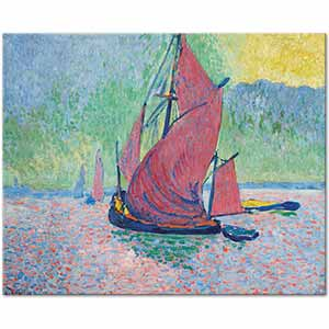 Andre Derain The Red Sails Art Print