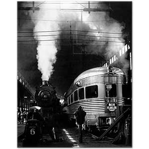 Andreas Feininger At the Train Station Art Print