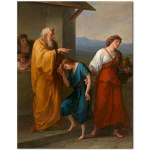 Angelica Kauffman Abraham Drives Hagar and Ishmael into the Desert Art Print