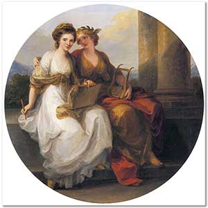 Angelica Kauffman Allegory of Poetry and Painting Art Print