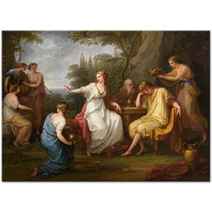 Angelica Kauffman The Sorrow of Telemachus Art Print
