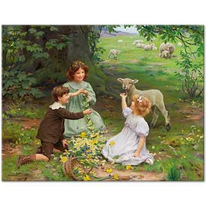 Arthur John Elsley The Joy of Spring Art Print