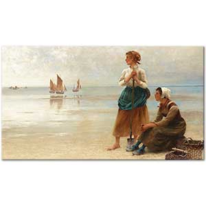 August Hagborg Women by the Sea Art Print