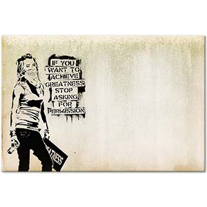Banksy Stop Asking for Permission Art Print