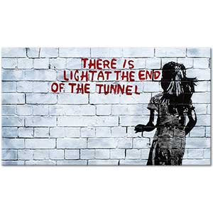 Banksy There is Light at the End of the Tunnel Art Print