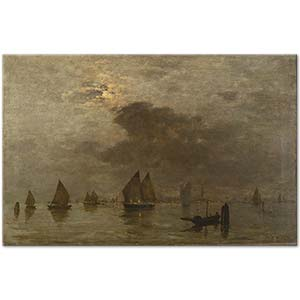 Bartolomeo Bezzi Evening in Venice Art Print
