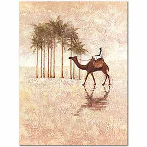 Camel in Desert Art Print