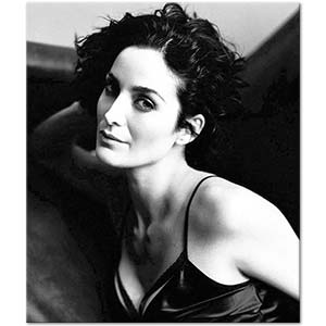 Carrie Anne Moss Portrait Art Print