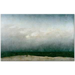 Caspar David Friedrich Deniz ve Keşiş Kanvas Tablo