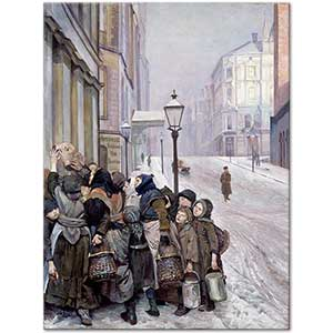 Christian Krohg Struggle for Survival Art Print