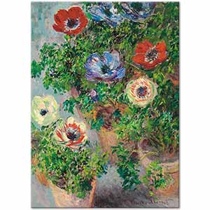 Claude Monet Anemones Art Print