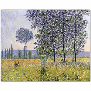 Claude Monet Sunlight Effect Under The Poplars Art Print