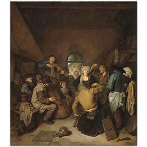 Cornelis Pietersz Bega Peasants Making Music and Dancing Art Print