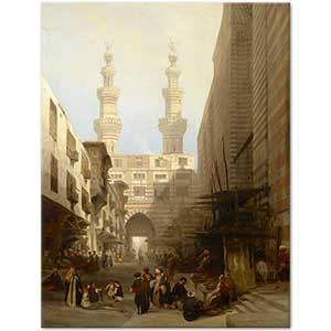 David Roberts A View in Cairo Art Print