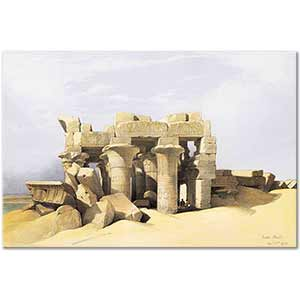 David Roberts Temple of Kom Ombo Art Print