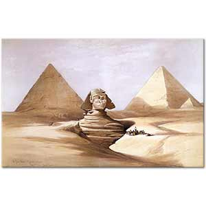 David Roberts The Great Sphinx and Pyramids of Gizeh Art Print