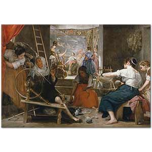 Diego Velazquez The Spinners Art Print