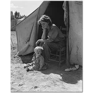 Dorothea Lange Eighteen Year Old Mother Art Print