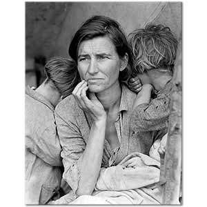 Dorothea Lange Migrant Mother Nipomo Art Print