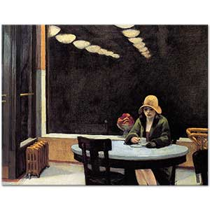 Edward Hopper Automat Art Print