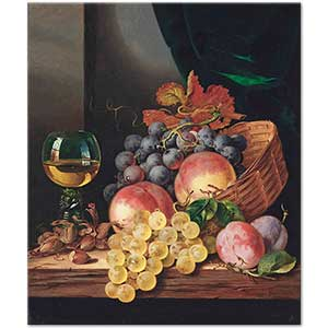 Edward Ladell Grapes and Peaches Art Print