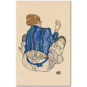 Egon Schiele Seated Woman Back View Art Print