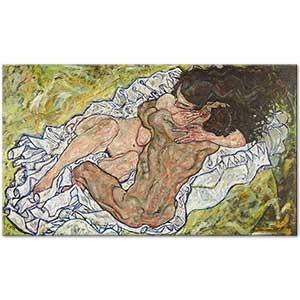 Egon Schiele The Embrace Art Print