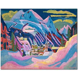 Ernst Ludwig Kirchner Davos in the Winter Art Print