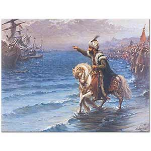 Fausto Zonaro Mohammed II in the Conquest of Constantinople Art Print