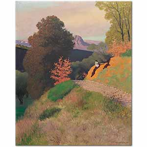 Felix Vallotton Surroundings of Cagnes in the Evening Art Print