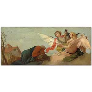 Francesco Zugno Abraham with the Three Angels Art Print