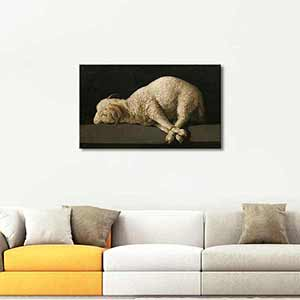 Francisco De Zurbaran Agnus Dei The Lamb of God Art Print