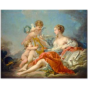François Boucher Allegory of Music Art Print