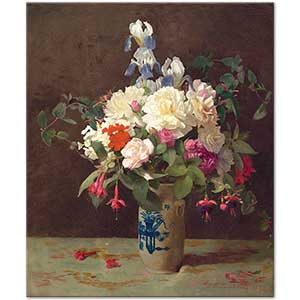 George Cochran Lambdin Vase of Flowers Art Print