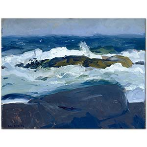 George Wesley Bellows Rock Reef Maine Art Print