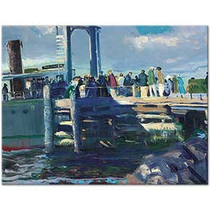 George Wesley Bellows The Dock Art Print