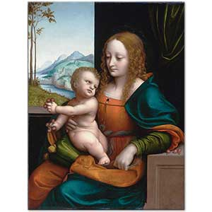 Giampietrino Madonna of the Cherries Art Print