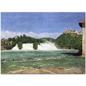 Hans Thoma The Falls of the Rhine at Schaffhausen Art Print