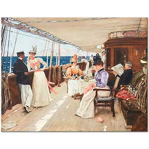 Henri Gervex Yachting in the Archipelago Art Print