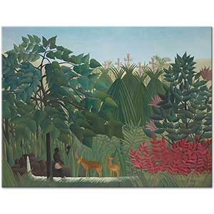 Henri Rousseau The Waterfall Art Print