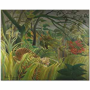 Henri Rousseau Tiger In A Tropical Storm Art Print