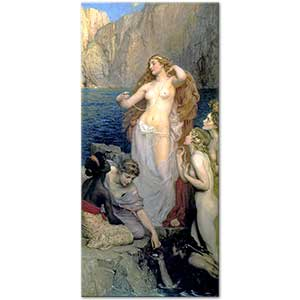 Herbert James Draper The Pearls of Aphrodite Art Print